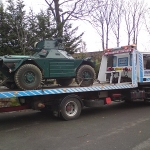 RRS Recovery Iveco with armoured vehicle