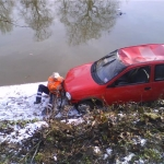 Car In River Ouse
