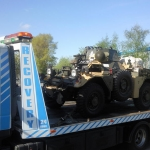 RRS Recovery Iveco 12 with  Daimler Armoured Car