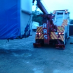 RRS Recovery Lifting Loaded trailer