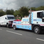 RRS Recovery front lifting a  Mercedes Vario