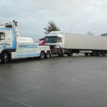 RRS Recovery towing a Mercedes Actros